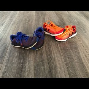 2 pair great used condition UA size 1